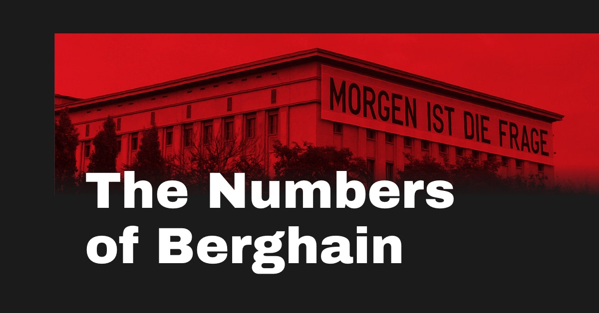 643e73aeb1fed3 Berghain Statistics – Most popular techno   house DJs played at Berghain